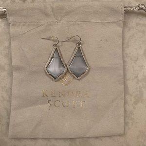 grey kendra scott earrings